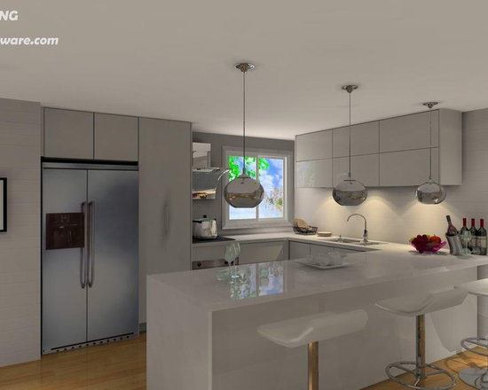 kitchen cabinet 012 - design free, customized, top quality, with bench top and top stainless steel sink