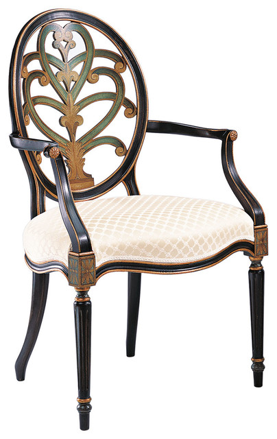 Hand-painted English Style Armchair traditional-dining-chairs