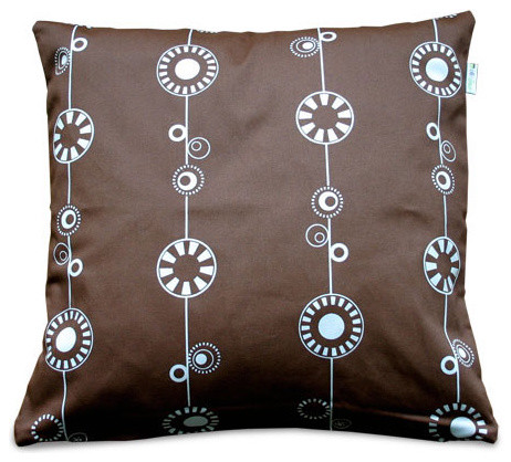 olli and lime George Throw Pillow - Milk Chocolate - Outlet Item (Condition: Ope modern-decorative-pillows
