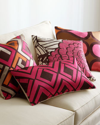 Pink & Brown Decorative Pillows modern pillows