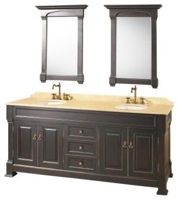 Wyndham Collection Andover 72-in. Antique Black Double Bathroom Vanity Set modern-bathroom-vanities-and-sink-consoles