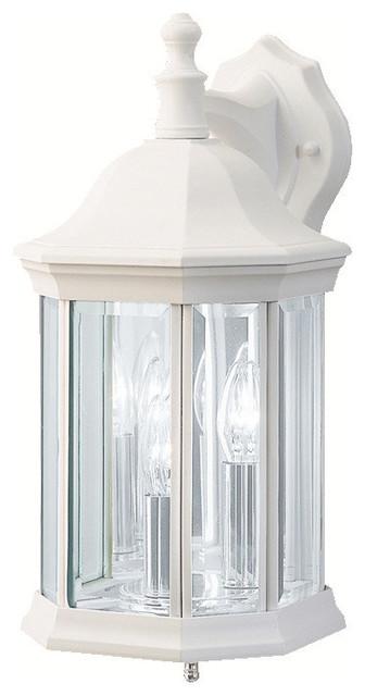 Kichler 3 Light Outdoor Fixture White Exterior