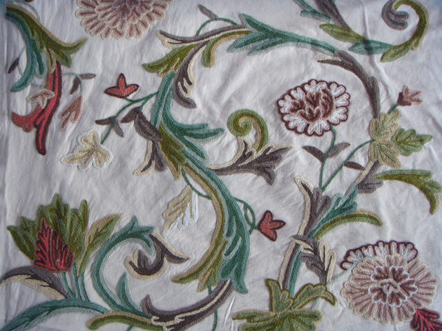 Crewel Fabric Curve Sweetpine Cotton Duck craftsman-upholstery-fabric