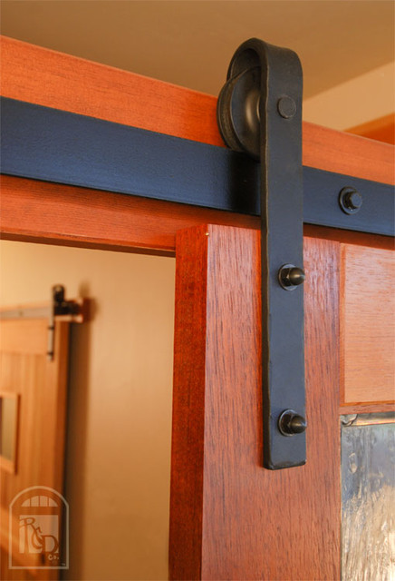 hammered flat track sliding barn door hardware