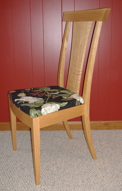 Custom oak dining chair contemporary chairs