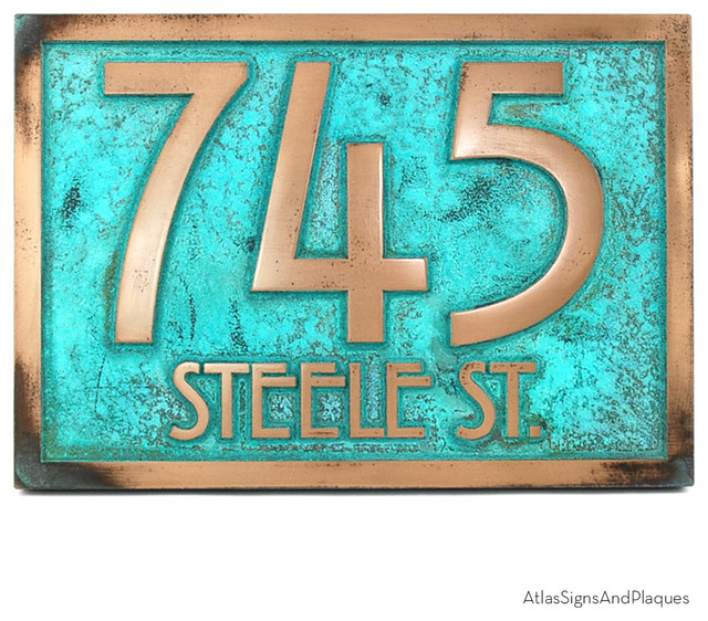Stickley Address Plaque 12 5 Quot X 8 75 Quot In Bronze Verdi