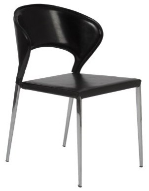 Euro Style Moira Stacking Dining Chairs - Set of 2 - Black modern-dining-chairs