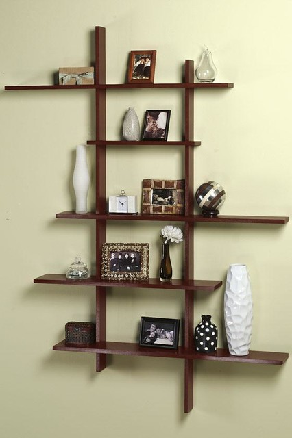tall contemporary display shelf modern display and