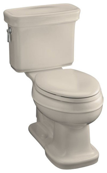 Kohler Bancroft Comfort Height Elongated Toilet traditional-toilets