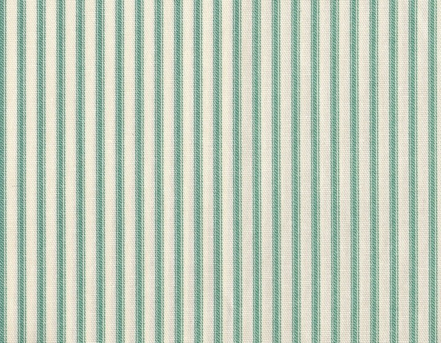"""30"""" Tailored Tiers, Lined, Ticking Stripe Pool Blue-Green traditional-curtains"""