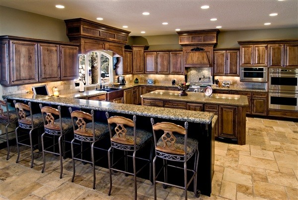 Custom kitchen with peninsula and island cabinet - Island or peninsula kitchen ...