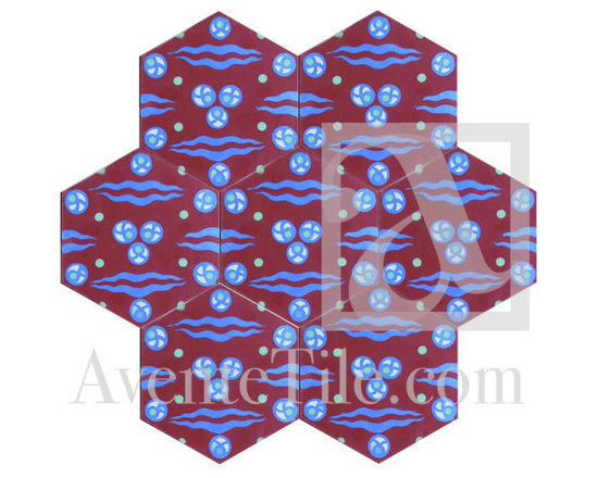 "Traditional Chitamani Cement Tile 8"" x 8"" -"