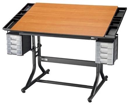 CraftMaster II Wood Drafting Table modern-drafting-tables