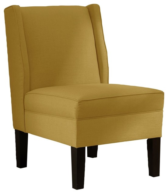 Skyline Furniture Linen Wingback Chair French Yellow
