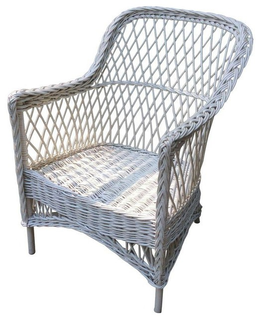 Pre Owned Antique Bar Harbor Wicker Chair Beach Style