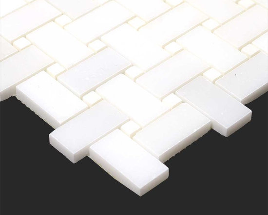 Thassos White Marble Polished Basketweave Mosaic - Thassos White Marble Polished Basketweave Mosaic   http://allmarbletiles.com/tile-collections/collections/arctic-white-polish-marble-mosaic-tiles/thassos-white-marble-polished-basketweavee-mosaic.html