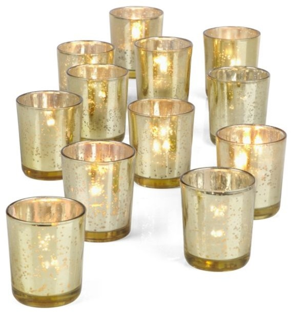 Votive Cups, Gold, Set of 12