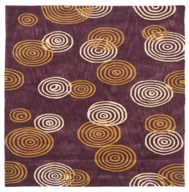 Safavieh Rodeo Drive RD633A Area Rug - Plum/Ivory modern-rugs
