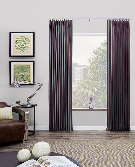 Tailored Pleat Drapery by The Shade Store modern-curtains