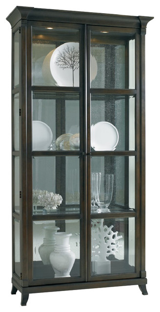 Hickory White Quinn Cabinet with Antique Mirror Back 240 ...