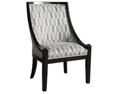 Powell High Back Accent Chair - Brown and Blue contemporary chairs