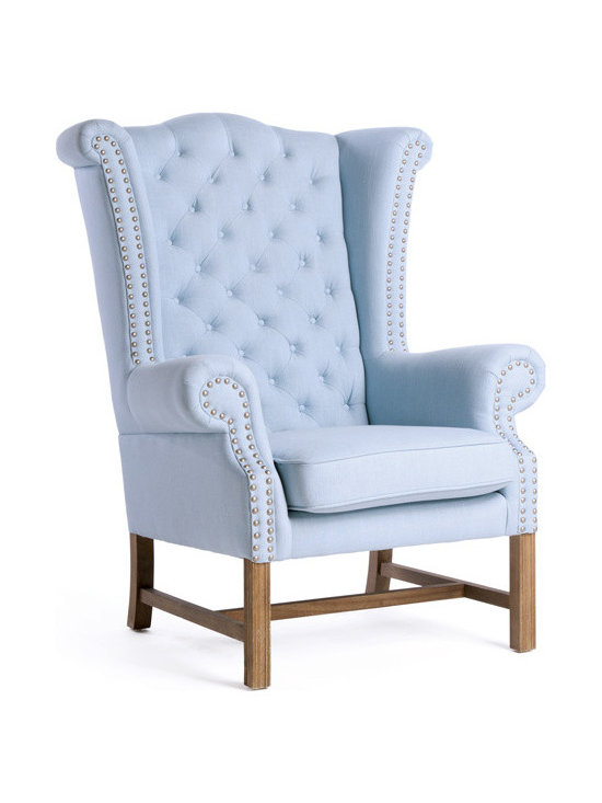 Go Home - Berkley Wing Chair - A move toward nurturing a slower way of life, growing and harvesting your own food, line drying linens and repurposing useful objects inspires our whimsical collection of furniture, lighting, textiles and accessories. Usher fresh country air into your home with crisp orchard colors and charming barnyard friends.