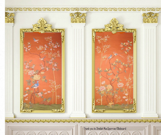 Griffin and Wong Chinoiserie Handpainted wallpaper - Asian ...