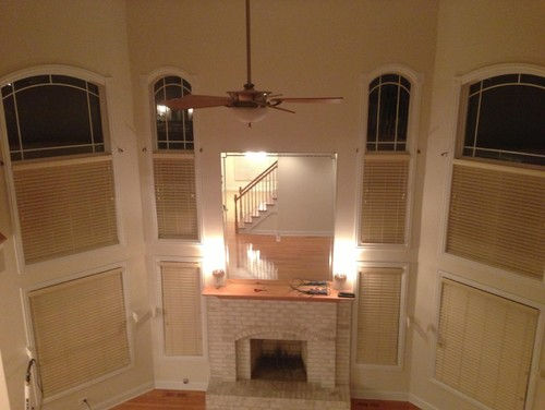 Window treatments for two story family room for 2 story family room window treatments