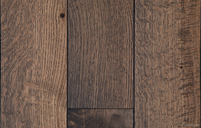 Oiled Character Grade White Oak Charcoal Finish craftsman-hardwood-flooring