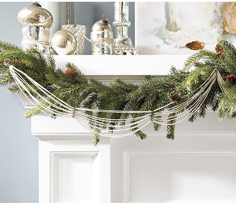 Vintage Glass Bead Garland Traditional Outdoor Holiday