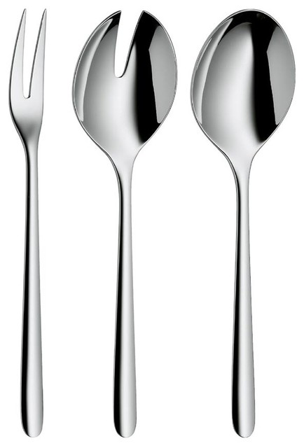 Flame 3 pc. Hostess Set contemporary-flatware