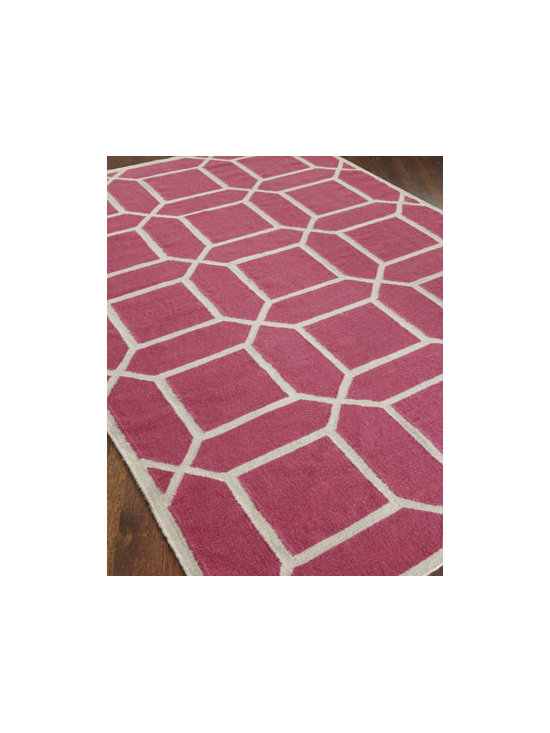 "Exquisite Rugs - Exquisite Rugs ""Octagonal Maze"" Rug, 5' x 8' - Hand-woven rug is soft yet durable and intended for foot traffic. New Zealand wool pile with a cotton foundation. Size is approximate. Imported."