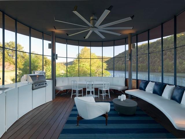 Shore Vista Oval Waterfall Boatdock modern