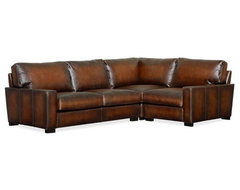 Turner Leather 3-Piece Sectional traditional-sectional-sofas
