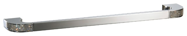 Towel Bar With Swarovski Crystal No Drilling Required It Is Optional Contemporary Toilet