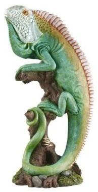 Tropical Iguana Sculpture modern-artwork