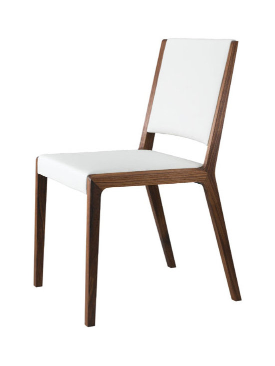Eviva Chair - Leather and solid wood dining chair.