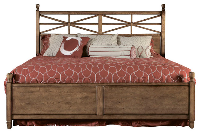 American Drew Americana Home 3 Piece Poster Bedroom Set In Warm Oak Traditional Beds By