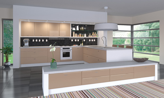 High Gloss Cappuccino Kitchens - Modern - Kitchen Cabinetry - other metro - by Do It Yourself ...