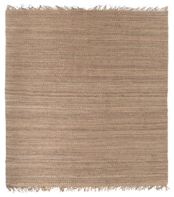 Surya Jute Natural Square Area Rug contemporary-rugs