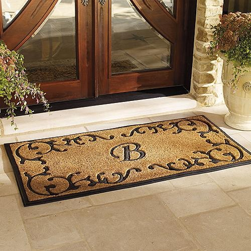 Amherst Monogrammed Door Mat - Traditional - Doormats - by ...