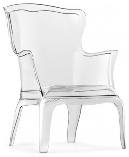 Ghost Wing Back Chair Modern Armchairs And Accent
