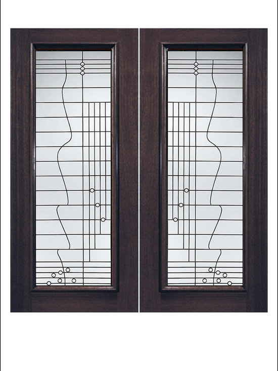 Exterior and Interior Beveled Glass Doors Model # 908 -