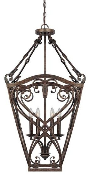 Capital Lighting 9362RT 4 Light Foyer Fixture Reserve Collection traditional-pendant-lighting