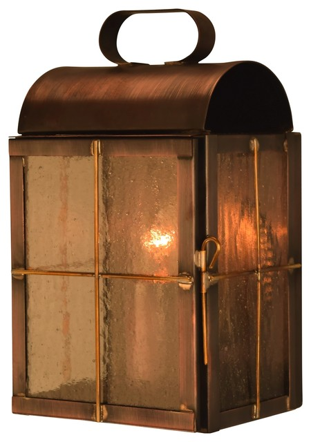 New Haven Colonial Copper Outdoor Wall Sconce traditional-outdoor-wall-lights-and-sconces