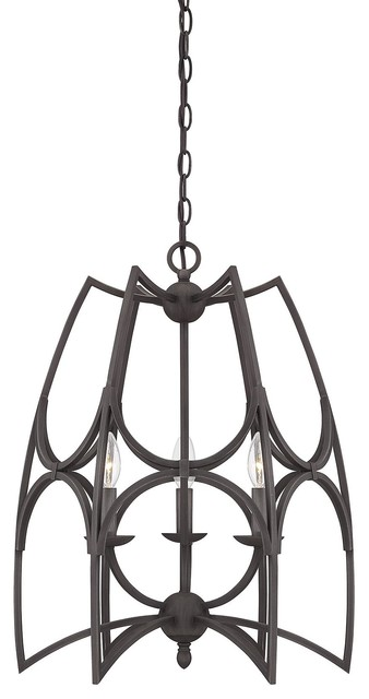 Savoy House 7-4350-3-13 Society English Bronze Pendant eclectic-chandeliers