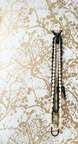ferm LIVING Wilderness Wallsmart Wallpaper, White/Gold eclectic wallpaper