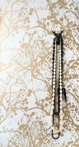 ferm LIVING Wilderness Wallsmart Wallpaper, White/Gold eclectic-wallpaper
