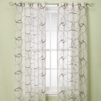 Orbitz Sheer Window Panel Contemporary Curtains By Bed Bath Beyond