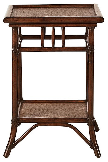 Classic Rattan Bedside Table traditional-nightstands-and-bedside-tables